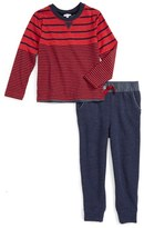 Splendid Boy's Stripe T-Shirt & Jogger Pants Set