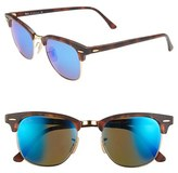 Ray-Ban Women's Standard Clubmaster 51Mm Sunglasses - Blue Mirror