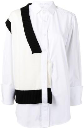 Delada Knitted-Panel Shirt