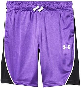 Under Armour Kids Basketball Shorts (Big Kids) (Black/Pink Surge/White) Girl's Shorts