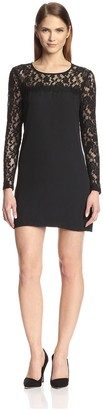 Society New York Women's Lace Yoke Dress