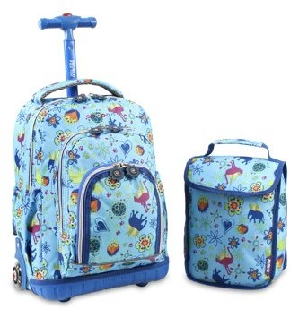 "J World Lolipop 16"" Rolling Backpack with Bonus Lunch Bag"
