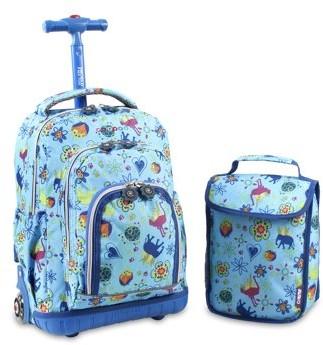 "J World New York J World Lolipop 16"" Rolling Backpack with Bonus Lunch Bag"