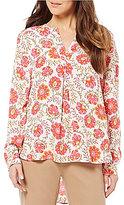 Sigrid Olsen Signature Floral Print Woven Blouse