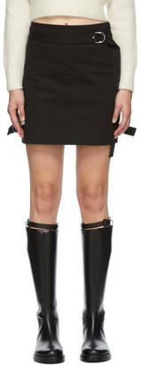 Helmut Lang Black Gabardine Strap Skirt