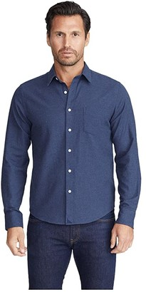 UNTUCKit Flannel Sherwood Shirt (Navy) Men's Clothing