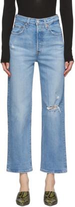 Levi's Levis Blue Ribcage Straight Ankle Jeans