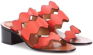 Chloé Laurent leather slip-on sandals