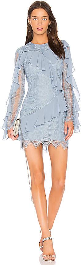 Keepsake Better Days Lace Ruffle Dress