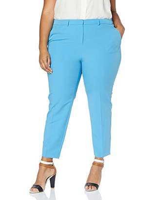 Dorothy Perkins Curve Women's Elastic Back Waistband Ankle Grazer Trousers,(Size:)