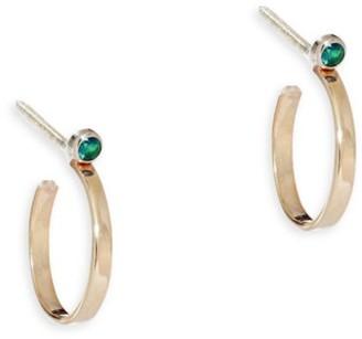 Lana Girl Green Sapphire Hoop Earrings