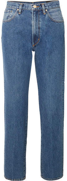 Gold Sign The Classic Fit High-rise Straight-leg Jeans - Mid denim