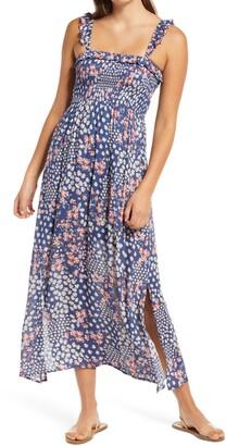 One Clothing Sleeveless Ruffle Smocked Maxi Sundress