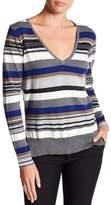 Michael Stars Striped V-Neck Sweater