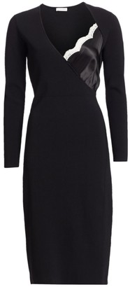 Altuzarra Long Sleeve Lace Peek-A-Boo Dress