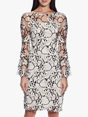 Adrianna Papell Floral Embroidered Sheath Dress, Blush/Multi