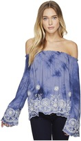 Romeo & Juliet Couture Off Shoulder Embroidered Top