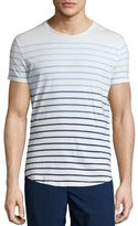 Orlebar Brown Gradient-Stripe Short-Sleeve T-Shirt, White/Blue