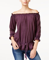 William Rast Grace Off-The-Shoulder Lace-Detail Top