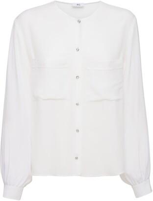 Silk Blend Crepe De Chine Shirt