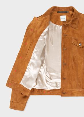 Paul Smith Men's Tan Suede Trucker Jacket