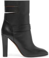 Agnona Cutout leather ankle boots