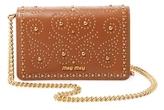 Miu Miu Studded Wallet on a Chain