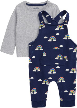 Boden Long Sleeve T-Shirt & Print Overalls Set