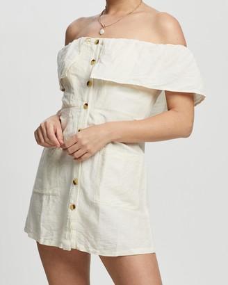 Topshop Petite Petite Bardot Mini Dress
