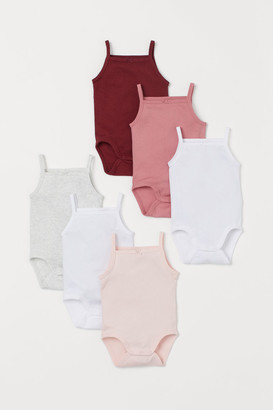 H&M 6-pack Sleeveless Bodysuits - Red