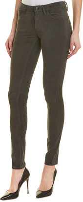 AG Jeans The Legging Grey Suede Super Skinny Leg