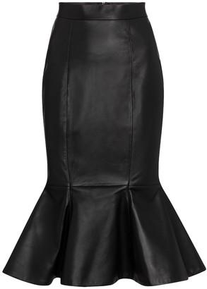 Alexandre Vauthier Leather fishtail midi skirt