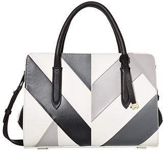 Radley London Liverpool Street Patchwork - Medium Zip Top Multiway (Chalk) Handbags