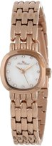 Lucien Piccard Women's 12012-RG-02MOP Teide White Mother-Of-Pearl Dial Crystal Accented Rose Gold Ion-Plated Stainless Steel Watch