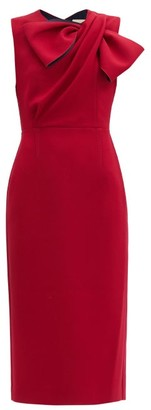 Roksanda Flandre Draped-bow Crepe Dress - Burgundy