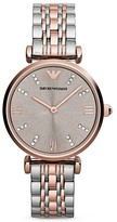 Emporio Armani Round Two Tone Watch, 31mm