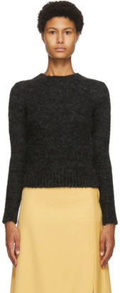 AURALEE Black Alpaca Wool Knit Pullover Sweater