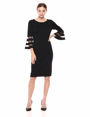 Calvin Klein Women's Sweater Dress with Illusion Bell Sleeves