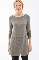 J. Jill Wearever Mixed-Media Tunic