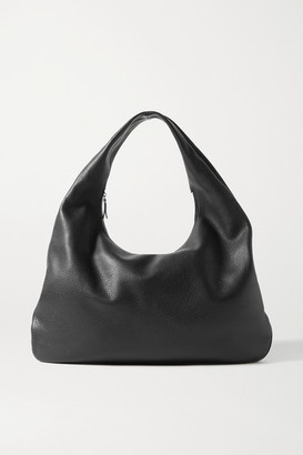 The Row Everyday Textured-leather Shoulder Bag - Black