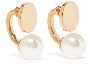 Darcy Gold-tone Swarovski Pearl Earrings