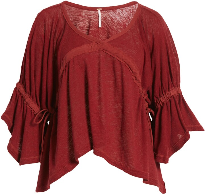 Thumbnail for your product : Free People Ruffle Linen Blend Top