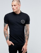 Asos Extreme Muscle Polo With Chest Print