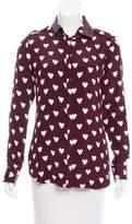 Burberry Heart Print Button-Up Top