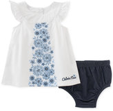 Calvin Klein 2-Pc. Floral Tunic & Diaper Cover Set, Baby Girls (0-24 months)