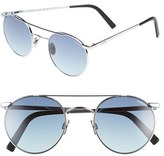 Randolph Engineering Men's 'Shadow' Retro Sunglasses - Bright Chrome/ Navy