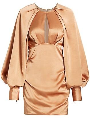Acler Paringa Puff Sleeve Mini Dress