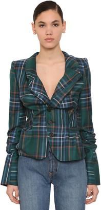 Vivienne Westwood Draped Tartan Wool Blazer