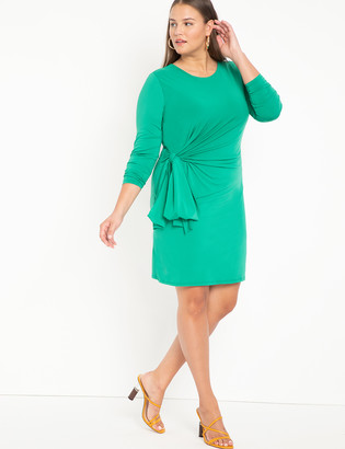 ELOQUII Tie Front Mini Dress