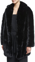 McQ by Alexander McQueen Faux-Fur Coat, Black